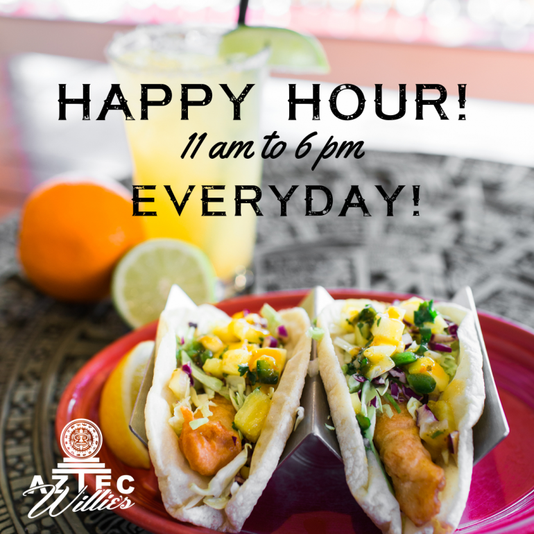 All Day Happy Hour 7 Days a Week!